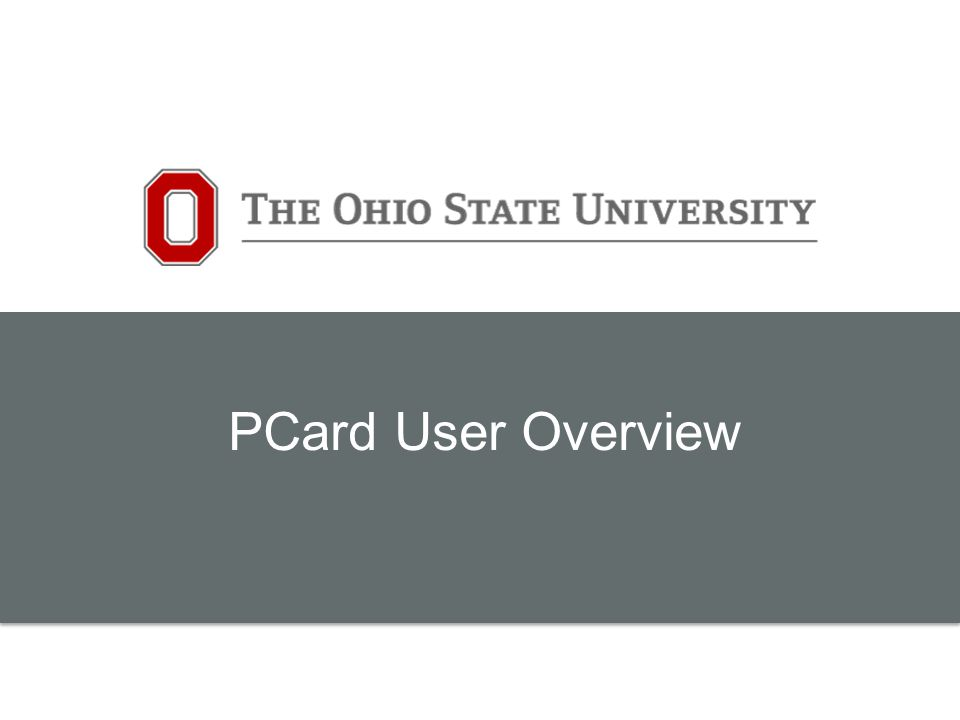 PCard User Overview