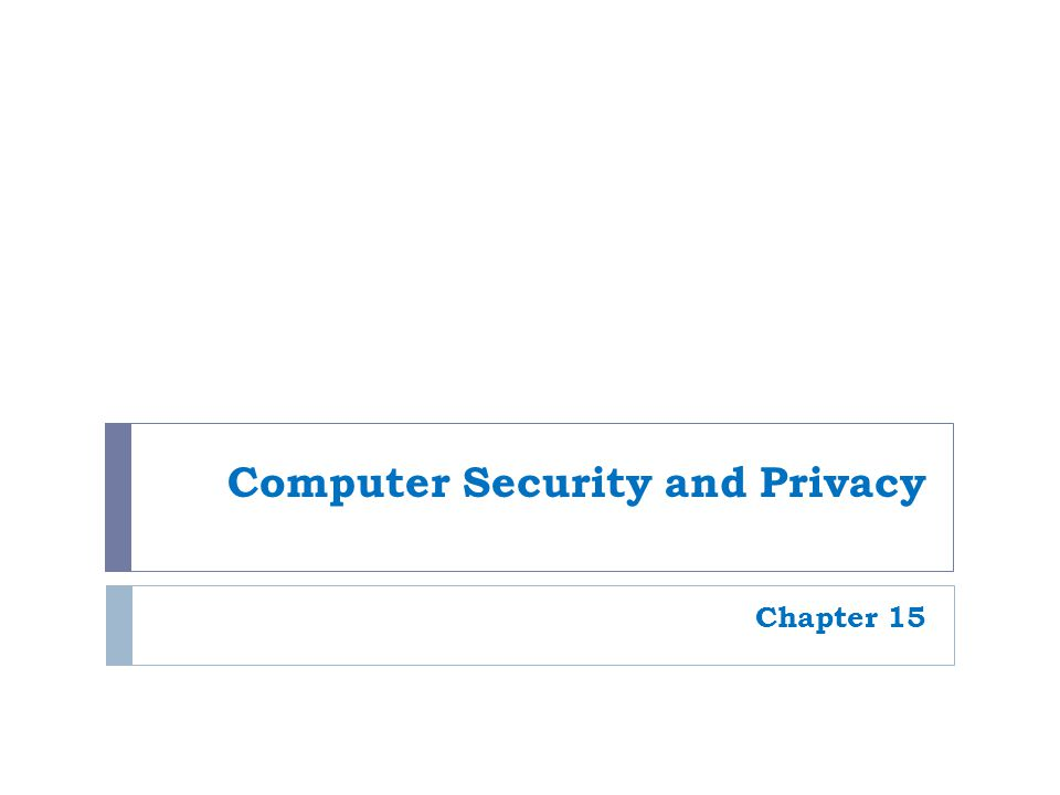 2 Overview  This chapter covers:  Hardware loss, hardware damage, and system failure, and the safeguards that can help reduce the risk of a problem occurring due to these concerns  Software piracy and digital counterfeiting and steps that are being taken to prevent these computer crimes  Possible risks for personal privacy violations due to databases, marketing activities, electronic surveillance, and monitoring, and precautions that can be taken to safeguard one's privacy  Legislation related to computer security and privacy
