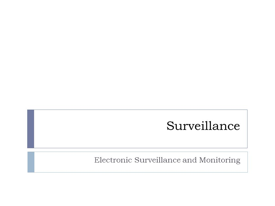 Surveillance Electronic Surveillance and Monitoring