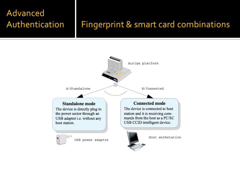 Advanced AuthenticationFingerprint & smart card combinations