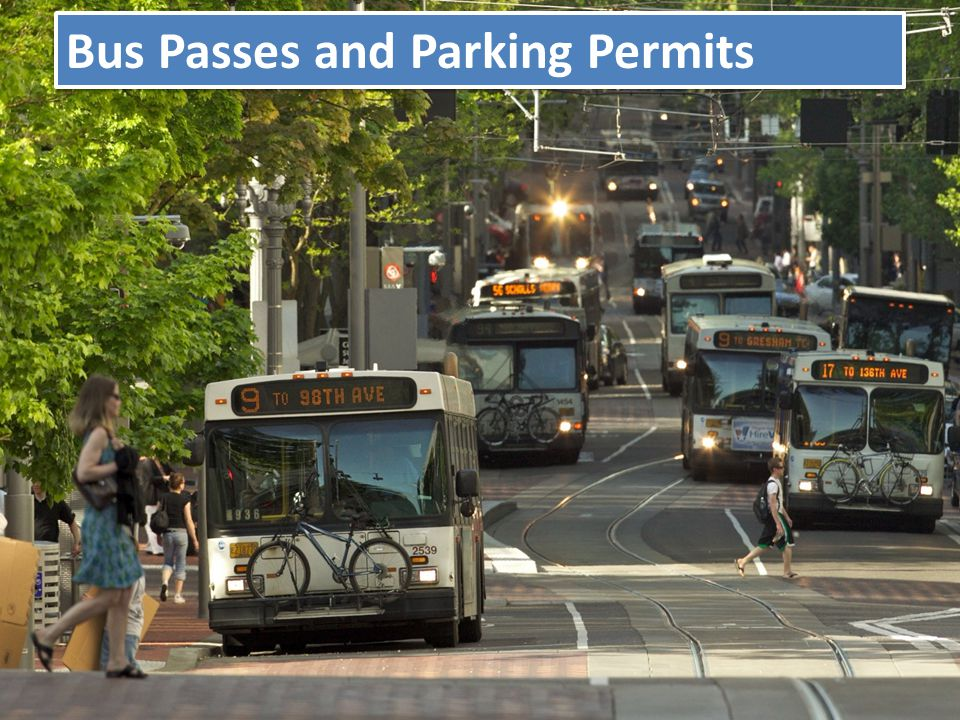 Lesson 1 : Develop an understanding of parking and Trimet bus pass options available to students.