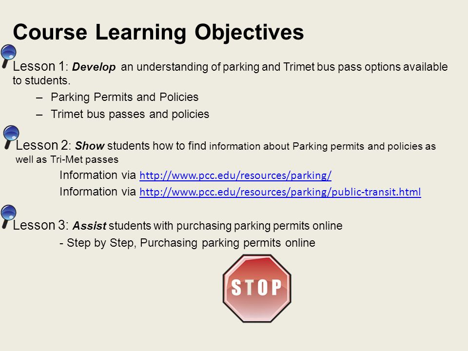 Develop Parking pass options available to students Type of PermitPrice Online Price at Student Account Services Offices All-Day Permit$45$50 Evening-Only Permit (valid 4pm to 10pm) $35$40 Annual Student Permit$150 Monthly Permit - SUMMER TERM ONLY Not available online - Order at Student Account Services Office $20 (per month) Ride Share (two people)Not available online - Order at Student Account Services Office $20 (Per Person) Motorcycle - FREENo Permit Required With certain exceptions, any vehicle parked on a PCC campus or center must display a current student, faculty and staff, or short term parking permit on their rearview mirror or dash.