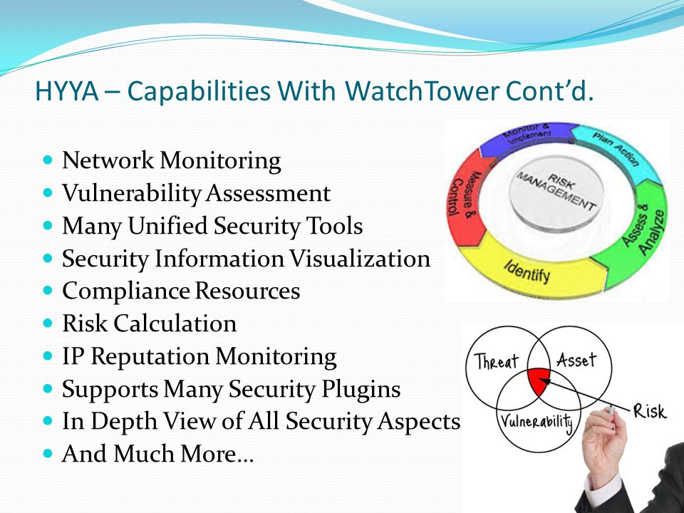 HYYA – Capabilities With WatchTower Cont'd.