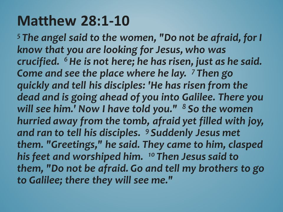5 The angel said to the women,