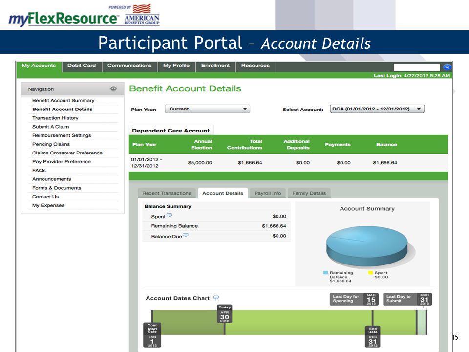 16 Participant Portal – Submit A Claim