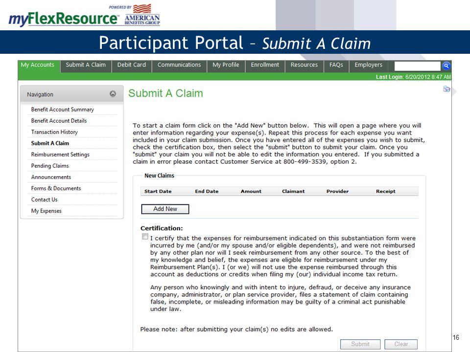 17 Participant Portal – My Plan's Forms & Documents Summary Plan Description