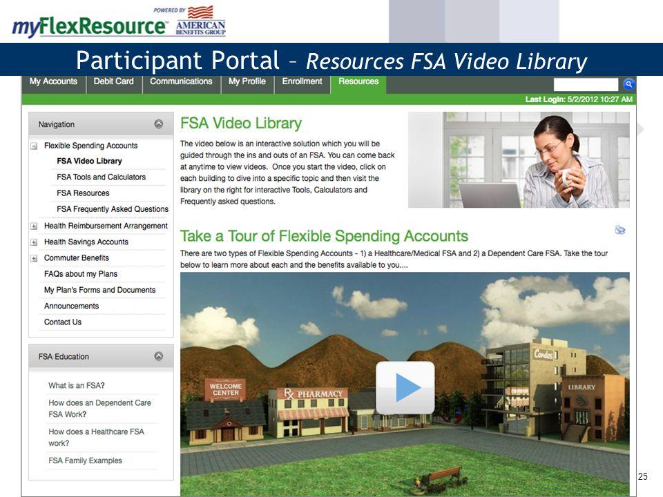 26 Participant Portal – FSA Tools & Calculators