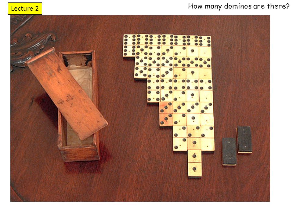 How many dominos are there? Lecture 2