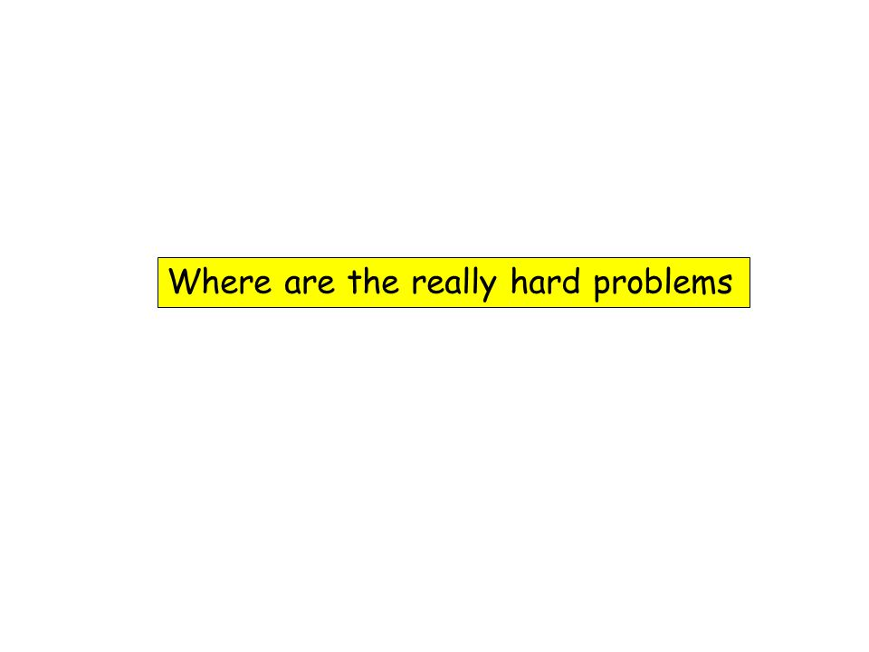 Where are the really hard problems