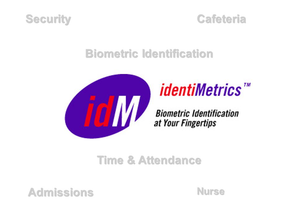 Biometric Identification SecurityCafeteria AdmissionsNurse Time & Attendance
