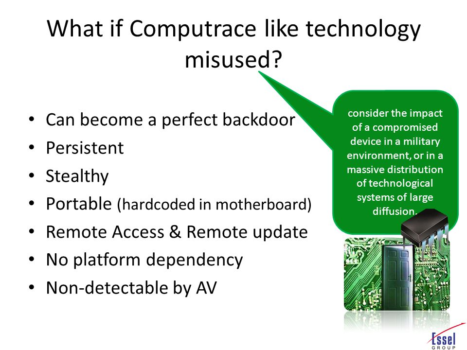 What if Computrace like technology misused.