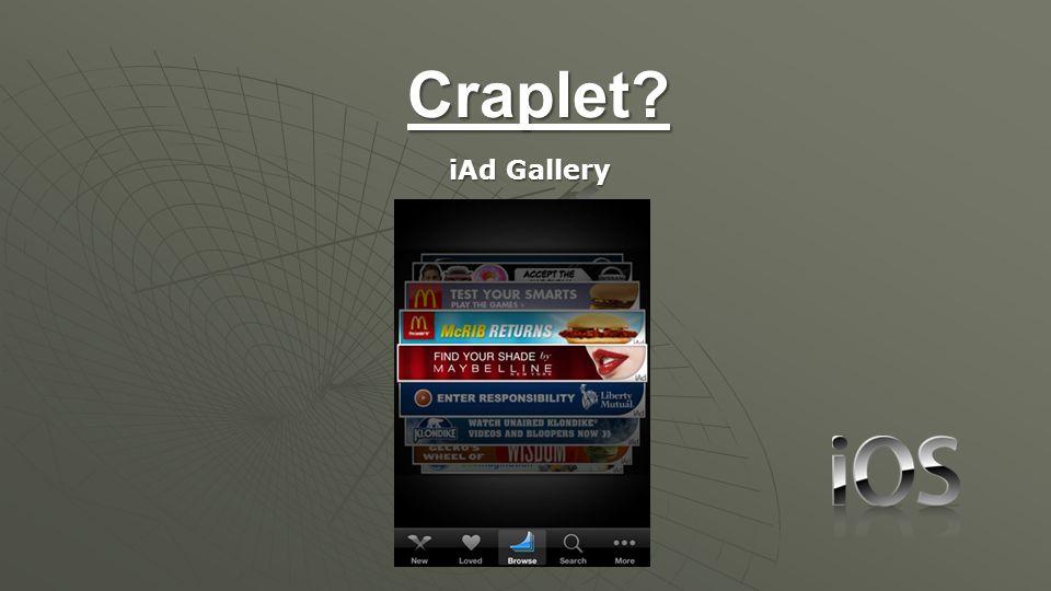 Craplet iAd Gallery