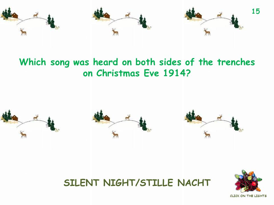 Which song was heard on both sides of the trenches on Christmas Eve 1914.