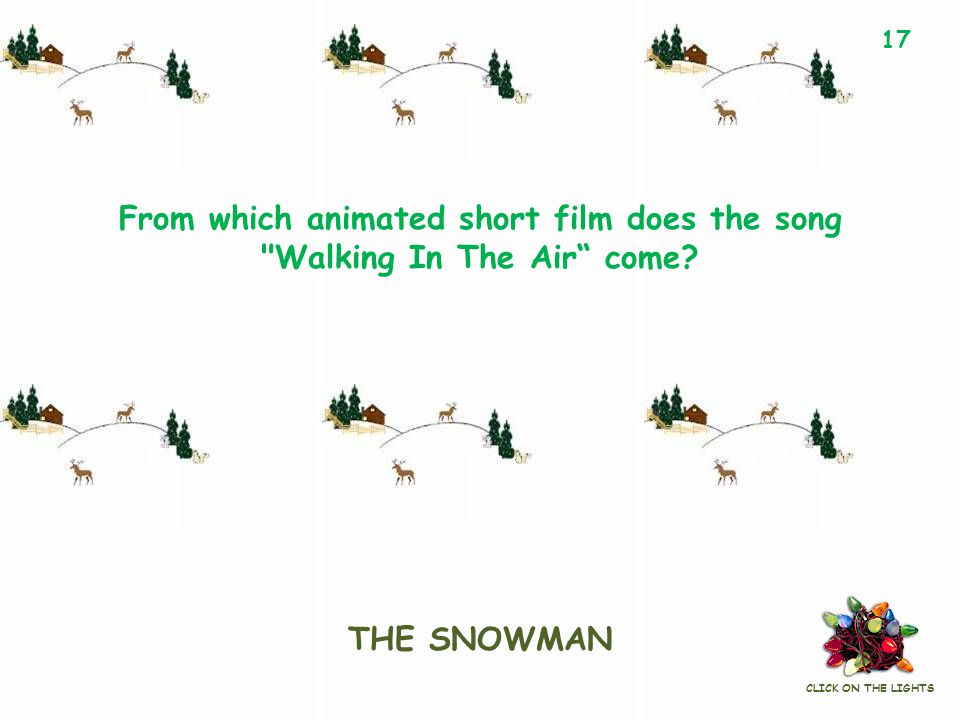 From which animated short film does the song Walking In The Air come.