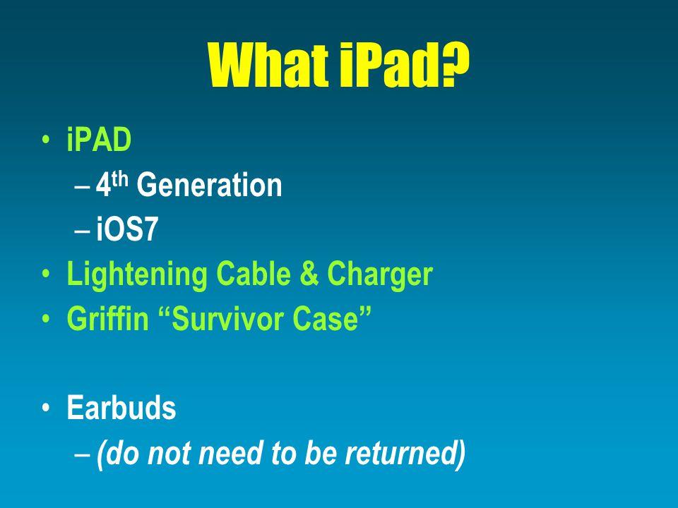 What iPad.