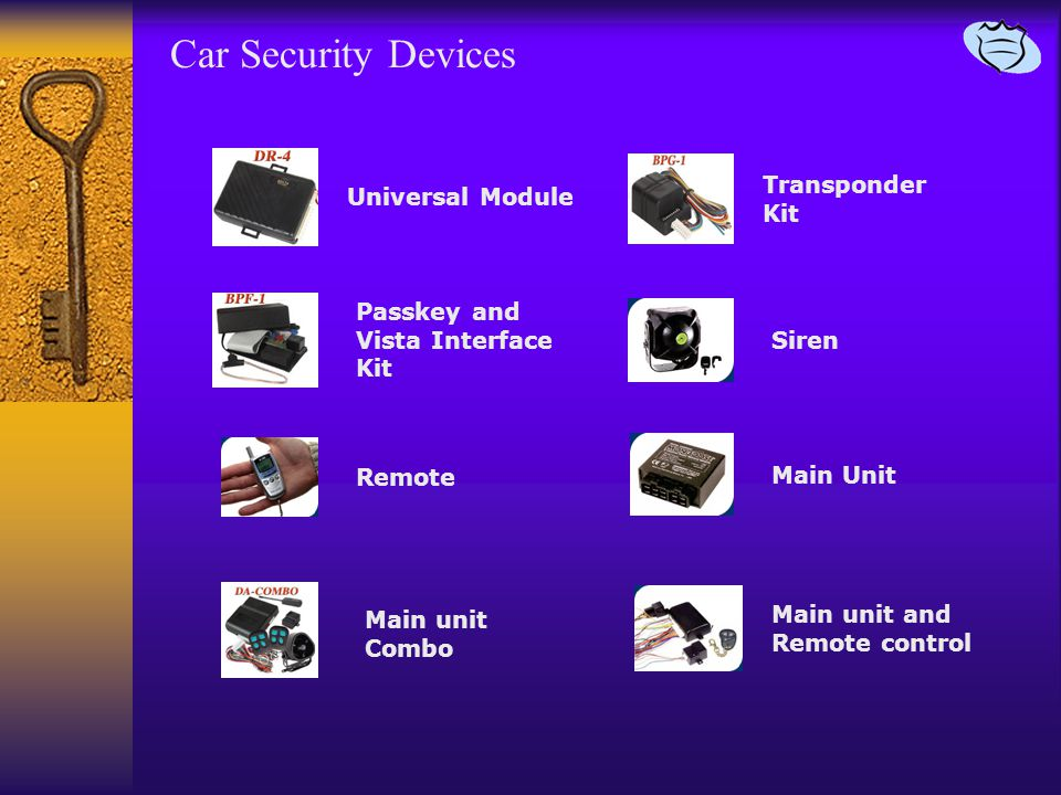 Car Security Devices Universal Module Main unit Combo Remote Passkey and Vista Interface Kit Siren Main Unit Main unit and Remote control Transponder Kit