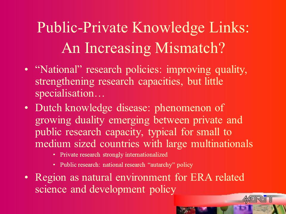 Public-Private Knowledge Links: An Increasing Mismatch.