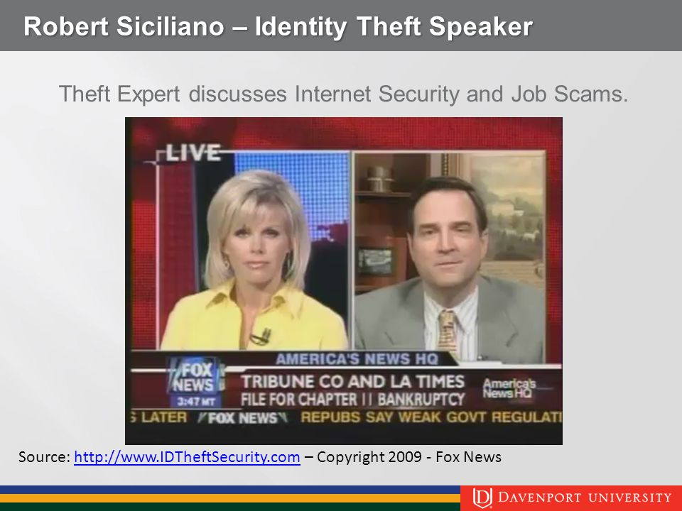 Robert Siciliano – Identity Theft Speaker Theft Expert discusses Internet Security and Job Scams.