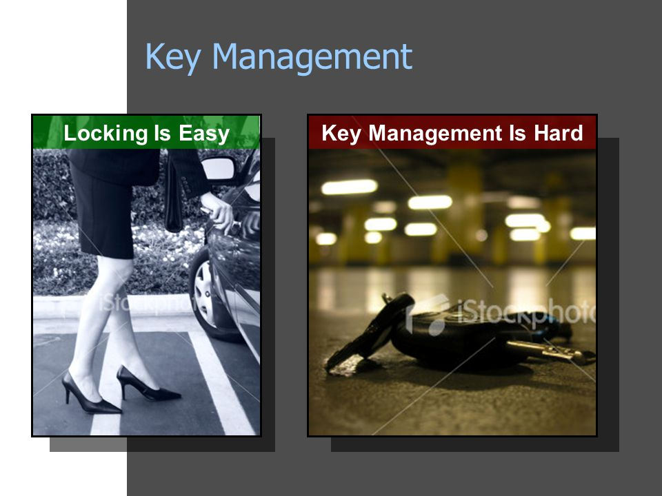 Key Management Locking Is EasyKey Management Is Hard