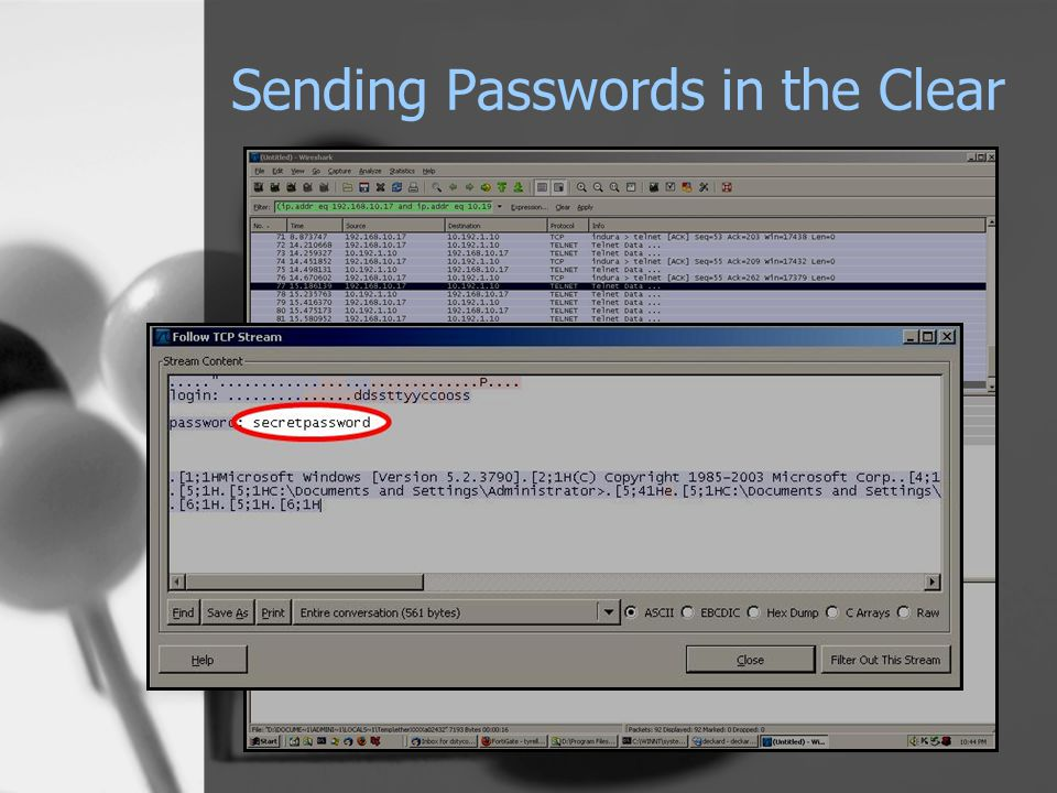 Sending Passwords in the Clear