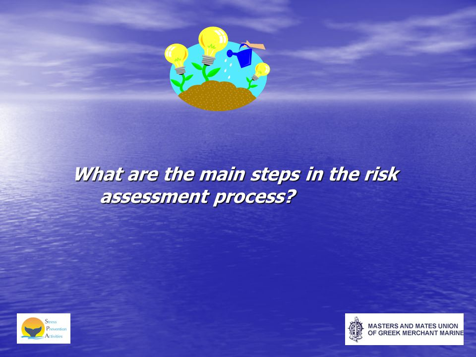 What are the main steps in the risk assessment process?