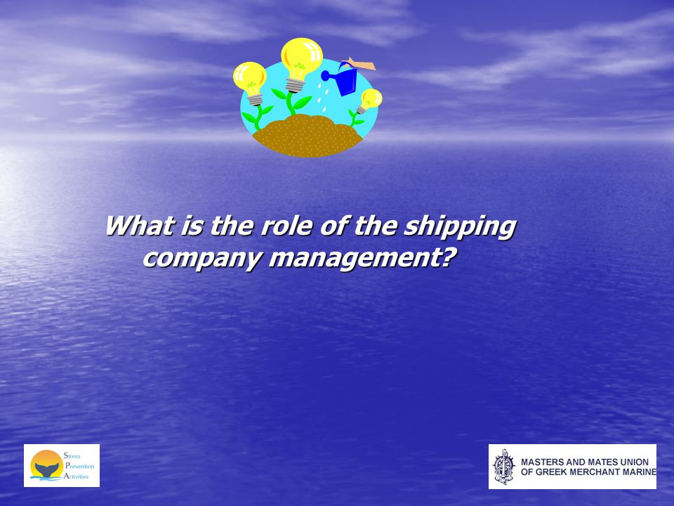 What is the role of the shipping company management?