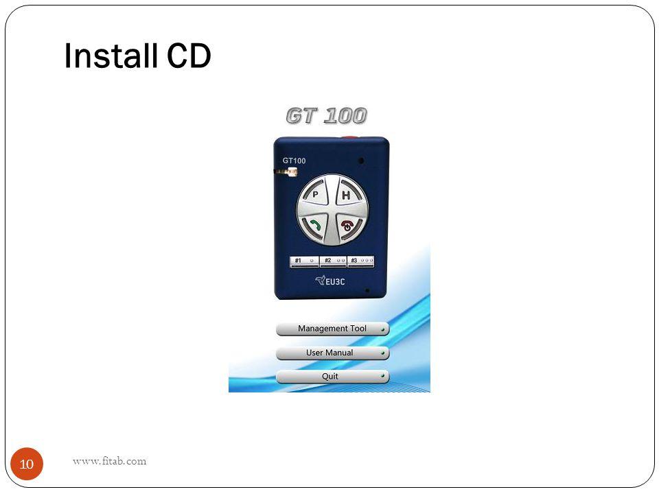 Install CD www.fitab.com 10