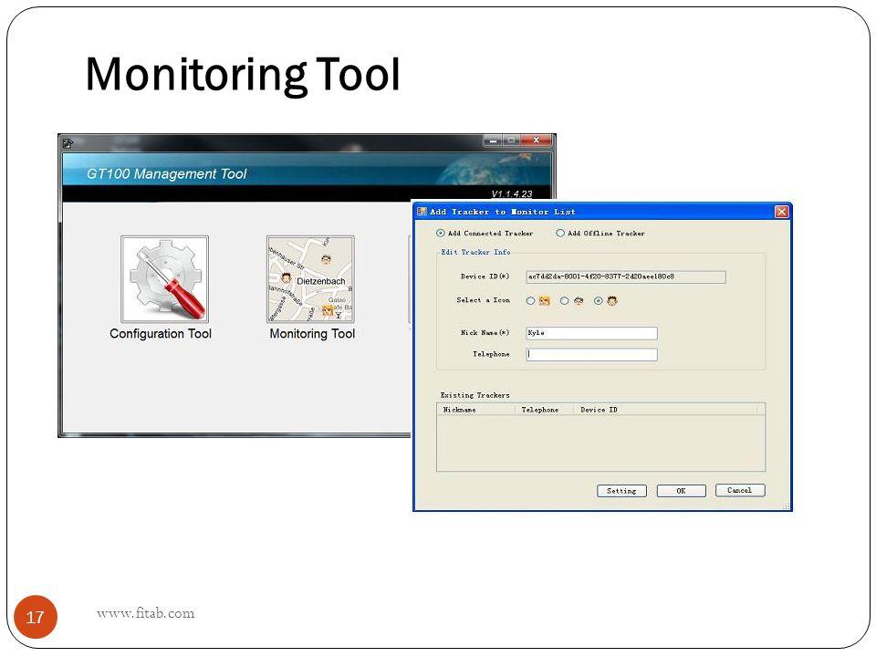 Monitoring Tool www.fitab.com 17