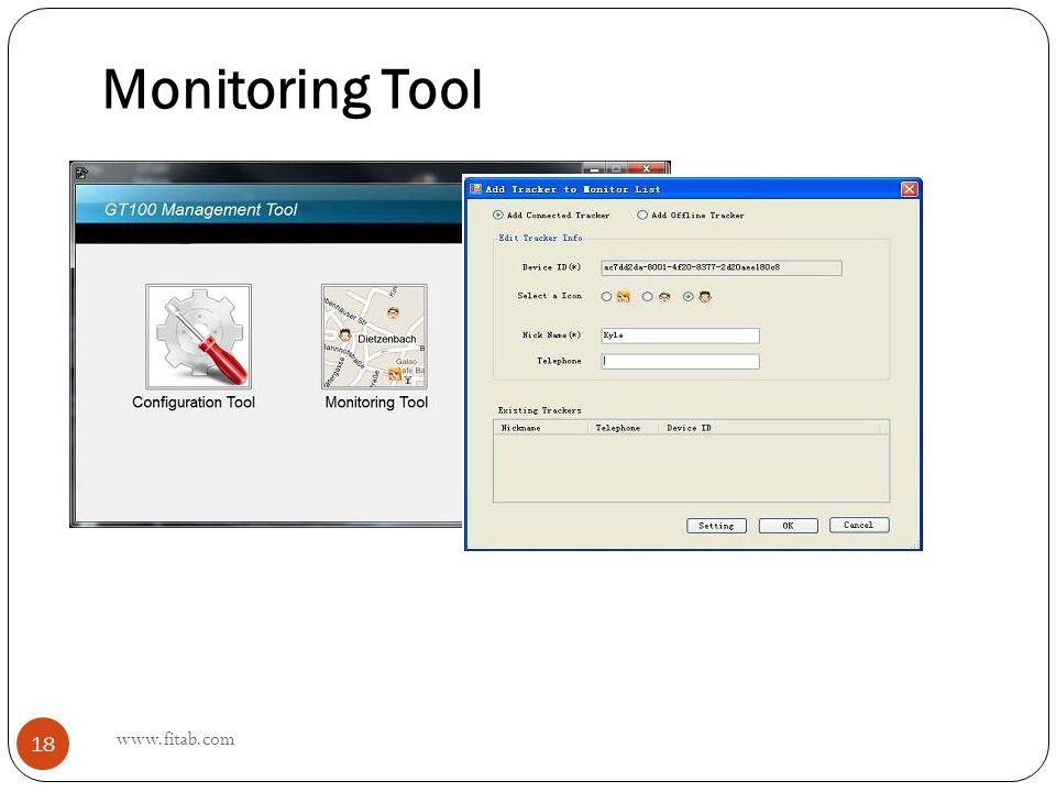 Monitoring Tool www.fitab.com 18