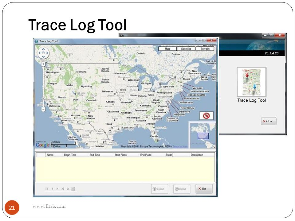 Trace Log Tool www.fitab.com 21