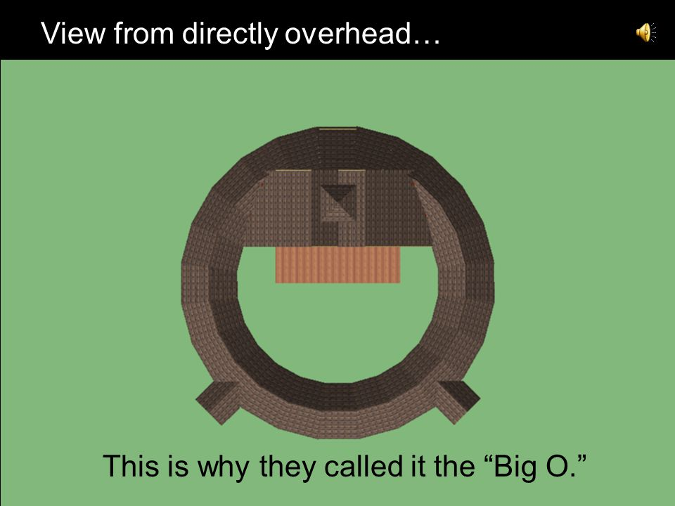 """View from directly overhead… This is why they called it the """"Big O."""""""
