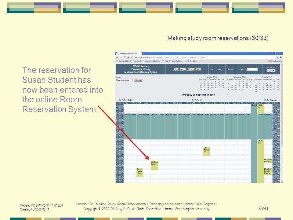Revised FR 2013-05-31 14:44 EST Created TU 2006-03-14 Lesson 13c.