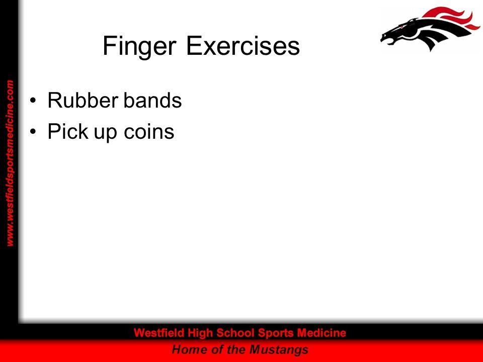 Finger Exercises Rubber bands Pick up coins