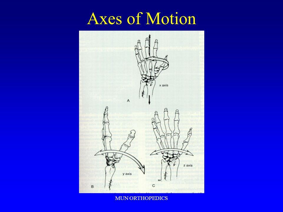 MUN ORTHOPEDICS Axes of Motion