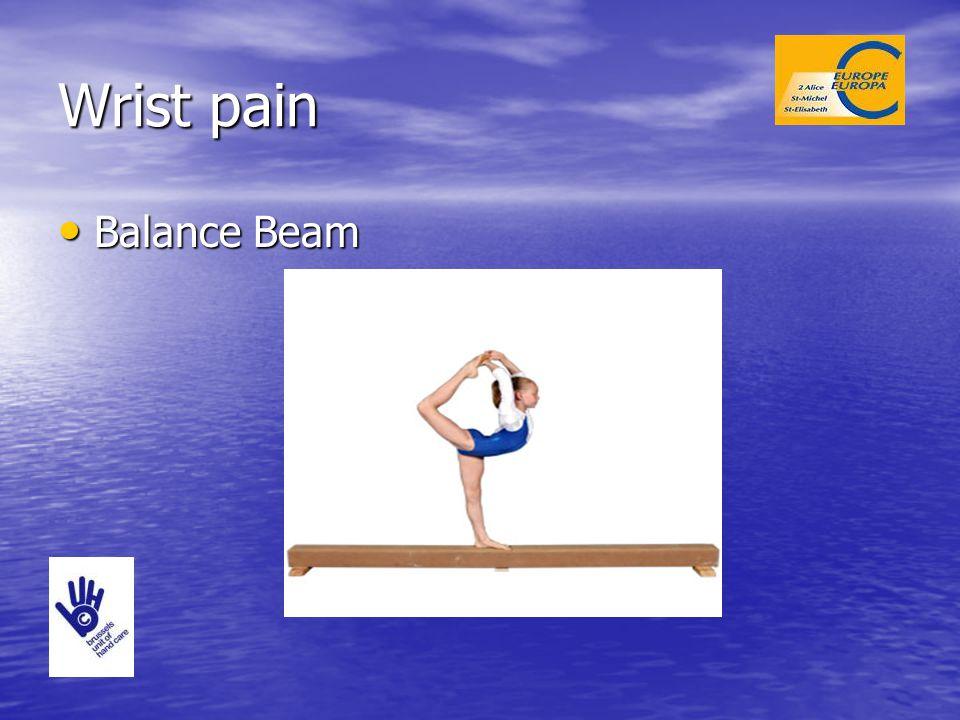 Wrist pain Balance Beam Balance Beam