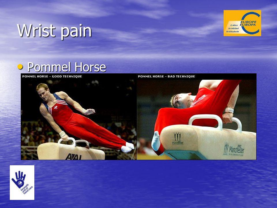 Wrist pain Pommel Horse Pommel Horse