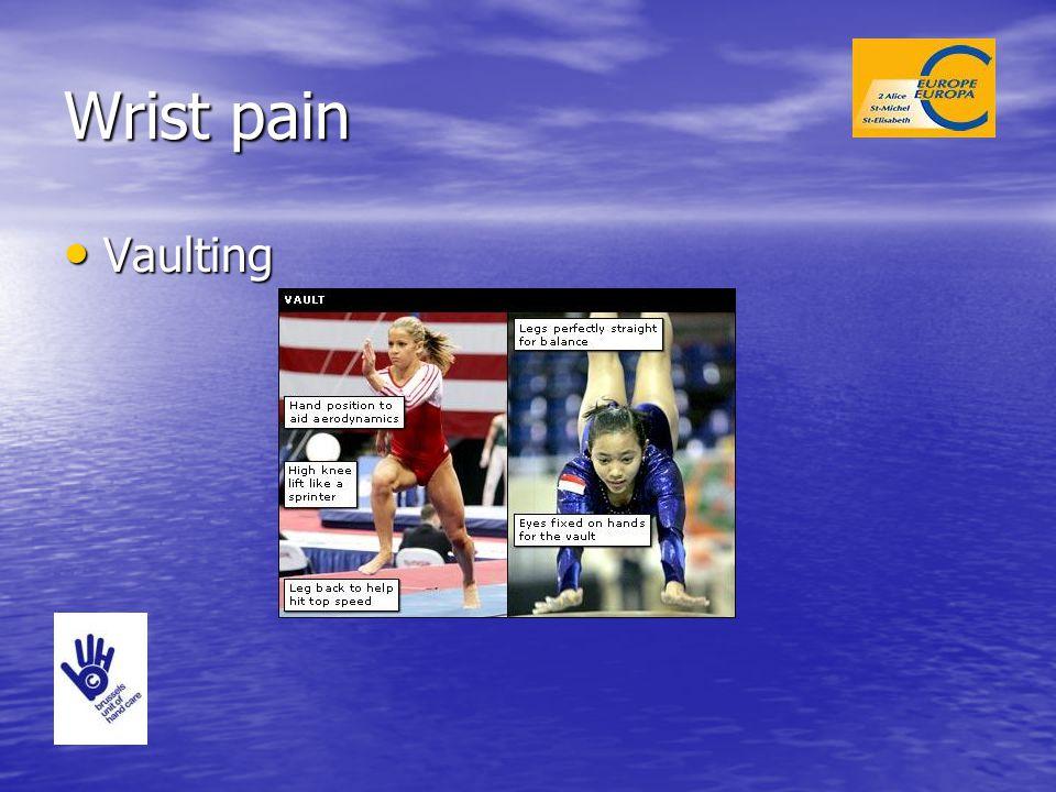 Wrist pain Vaulting Vaulting