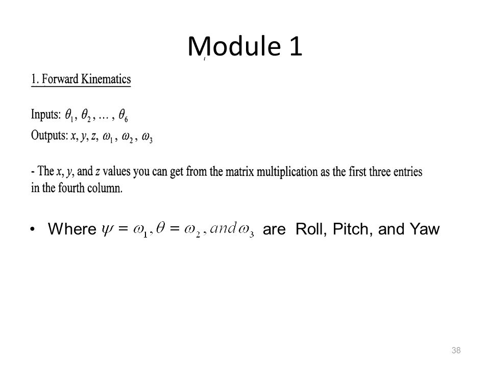 Module 1 38 Where are Roll, Pitch, and Yaw