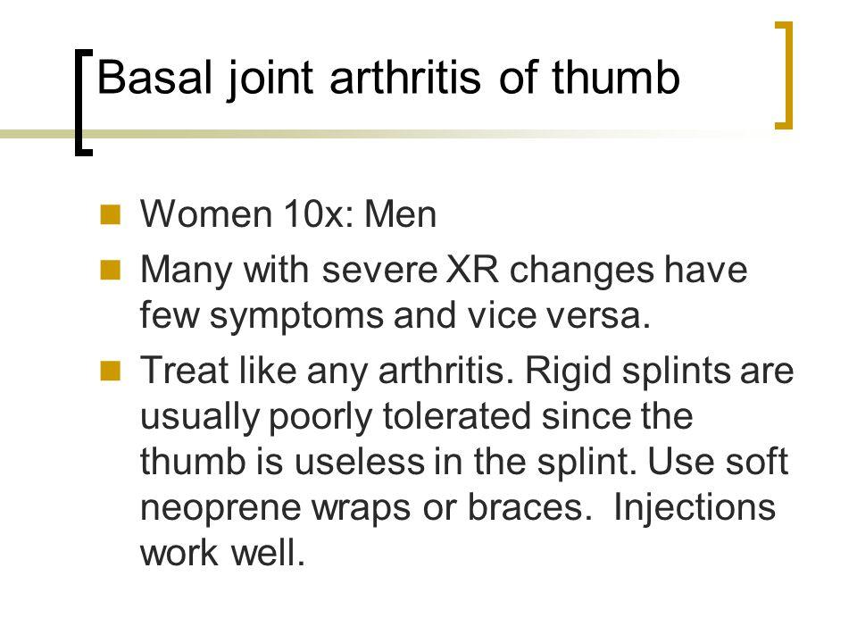 Basal joint thumb arthritis