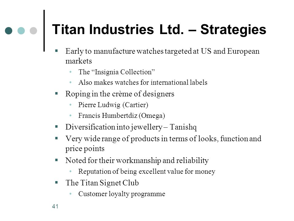41 Titan Industries Ltd.
