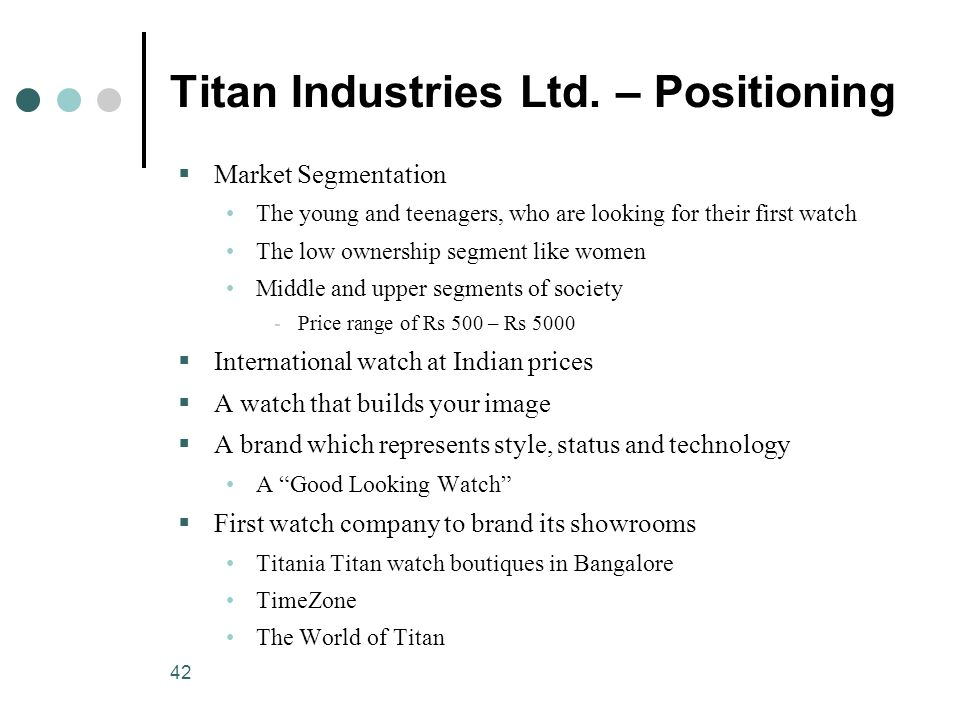 42 Titan Industries Ltd.