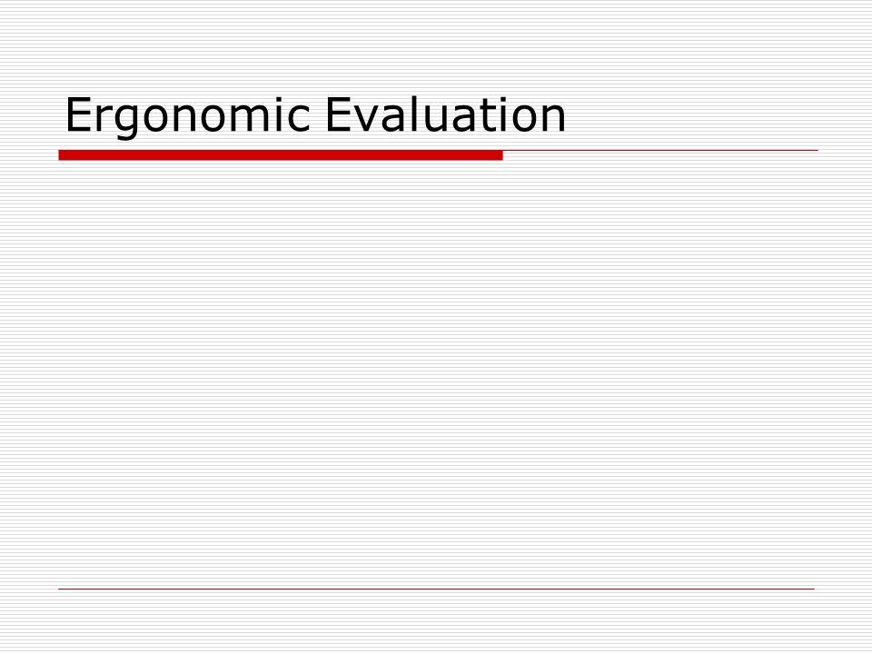 Ergonomic Evaluation
