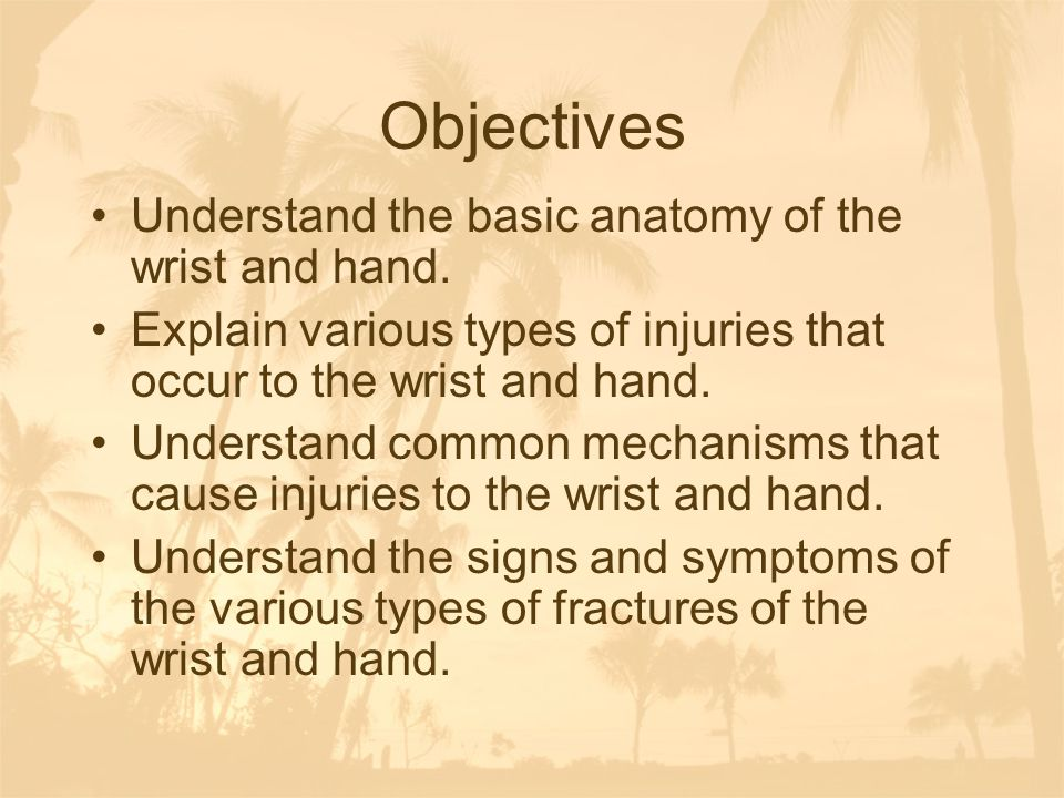 Anatomy-ligaments Thumb –Ulnar collateral of the thumb –Radial collateral of the thumb –Provide joint stability to thumb