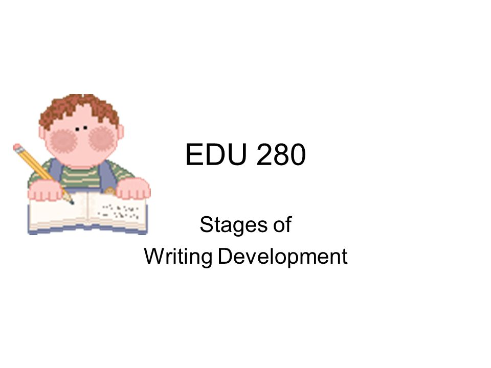 Stages of Pre-Writing Skill Development (Physical Domain) Stage 1 Palmar-Supinate Grasp (1 and 1.5 year olds) Held with fisted hand Wrist slightly flexed Wrist slightly supinated away from mid- position Arm moves as a unit