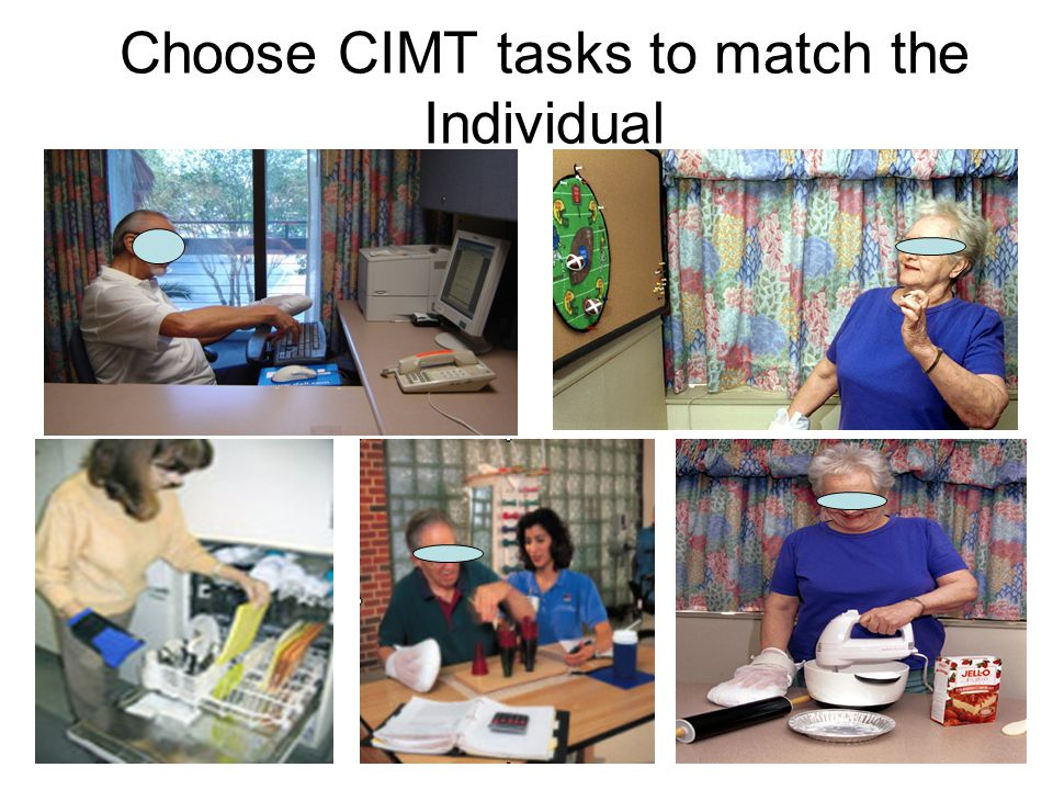 Choose CIMT tasks to match the Individual