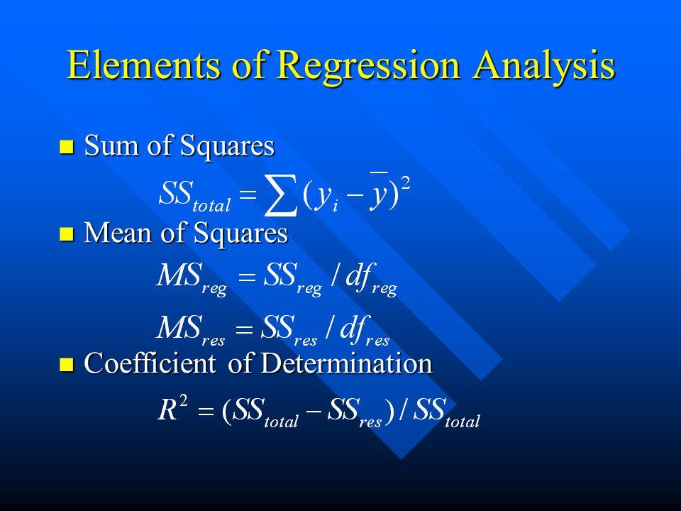 Elements of Regression Analysis Regression Assumptions 1.
