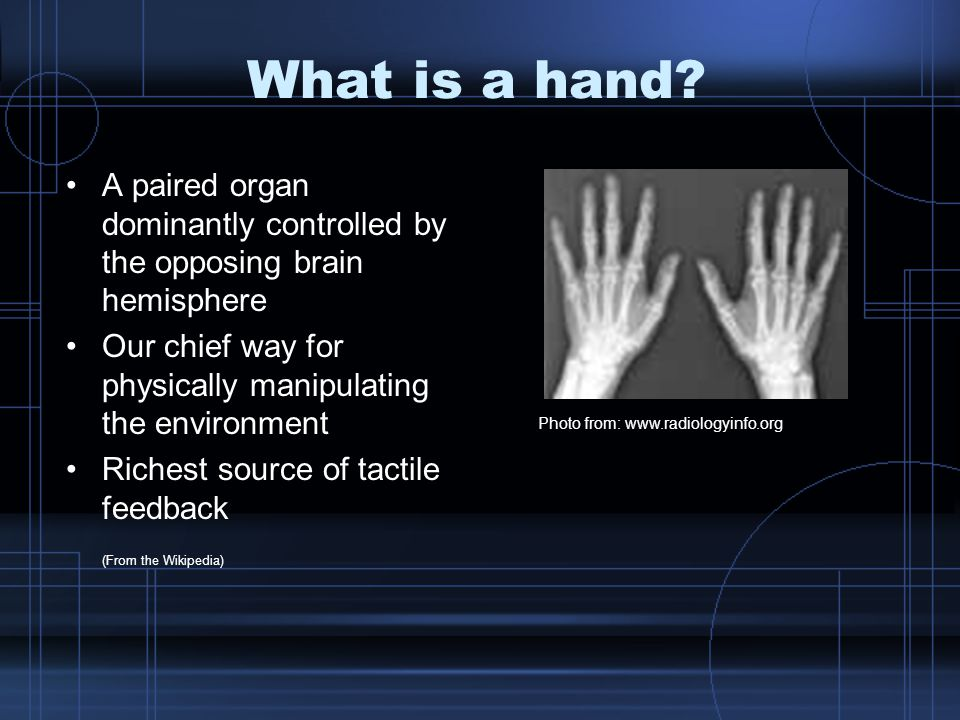 What is a hand.