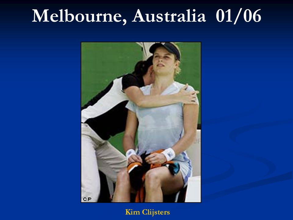 Melbourne, Australia 01/06 Kim Clijsters