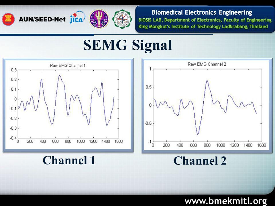 SEMG Signal Channel 1 Channel 2 www.bmekmitl.org