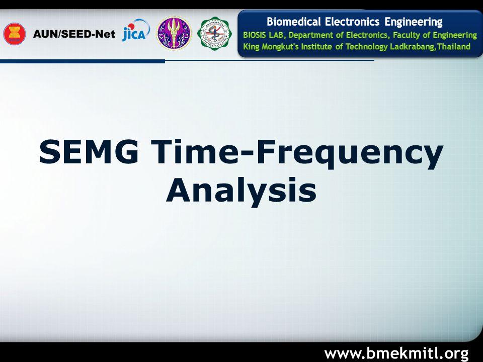 SEMG Time-Frequency Analysis www.bmekmitl.org